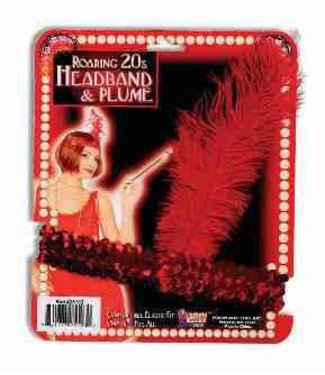 Forum Novelties Roaring 20s Headband Red (C14)