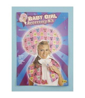 Forum Novelties Baby Girl Accessory Bib/Bonnet Kit, Adut