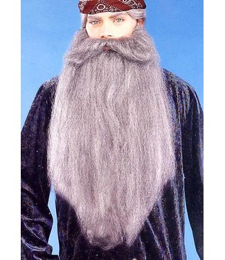 Forum Novelties Beard And Moustache 18 inch Grey