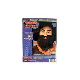 Forum Novelties Beard And Moustache 49er Black