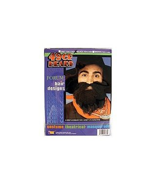 Forum Novelties Beard And Moustache 49er Black
