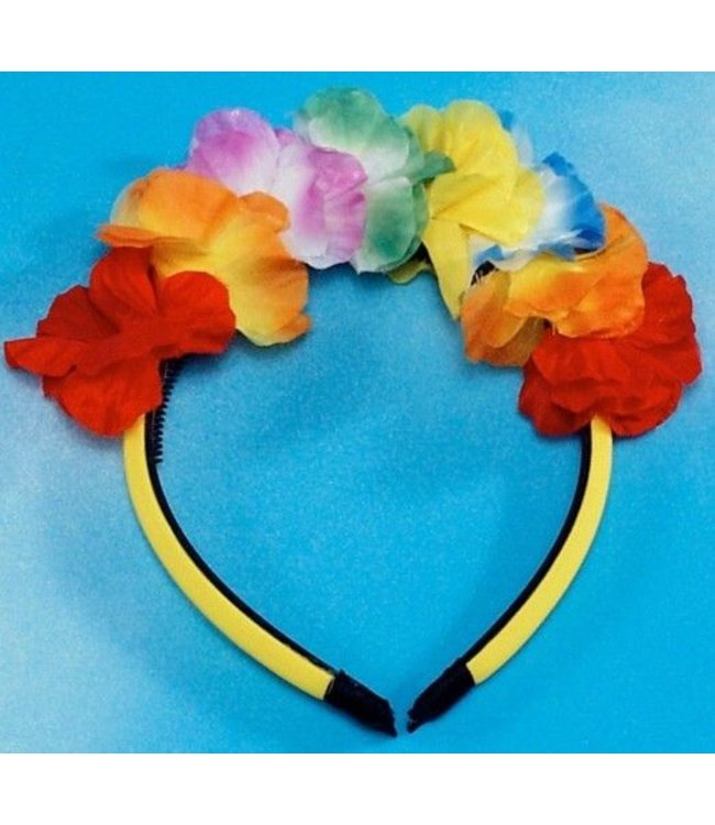 Forum Novelties Lei Headband - Silk Flowers (C12)