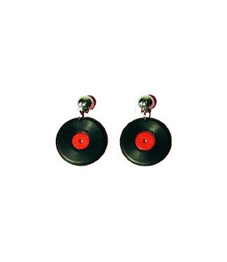 Forum Novelties Record Earrings - Clip On
