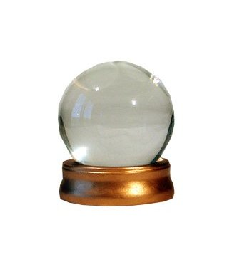 Forum Novelties Crystal Ball with Stand, Glass/Water Prop