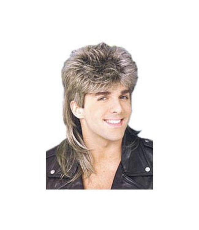 Forum Novelties Mullet Wig - Blonde, blend of color