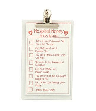 Forum Novelties Hospital Honey Clip Board and Sexy Prescription Pad