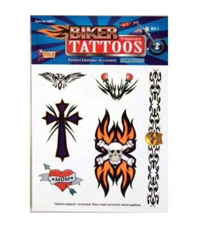 Forum Novelties Biker Temporary Tattoos
