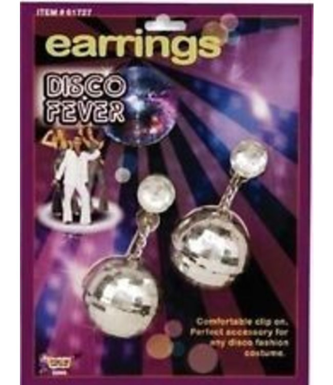Forum Novelties Earrings Disco Ball (C3)