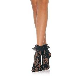 Forum Novelties Black Lacey Ankle Socks (C4)