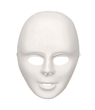 Forum Novelties Deluxe Do It Yourself Costume Mask - White