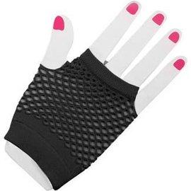 Forum Novelties Fingerless Fishnet Gloves - Black
