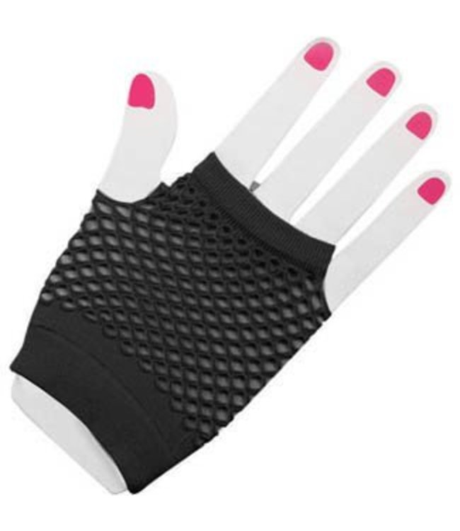 Forum Novelties Fingerless Fishnet Gloves - Black