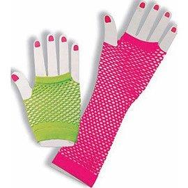 Forum Novelties Fingerless Fishnet Gloves - Neon (C4)
