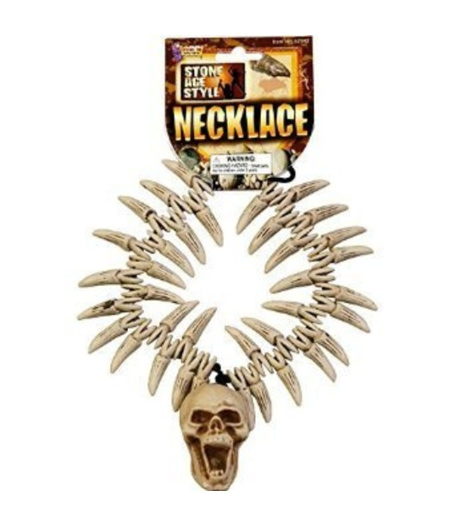 Forum Novelties Stone Age Teeth/Skull Necklace (C12)