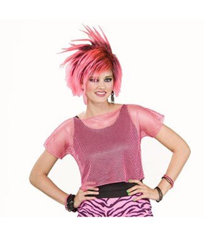 Forum Novelties Neon Pink Mesh Top