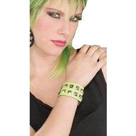 Forum Novelties Neon Pink Double Stud Wristband