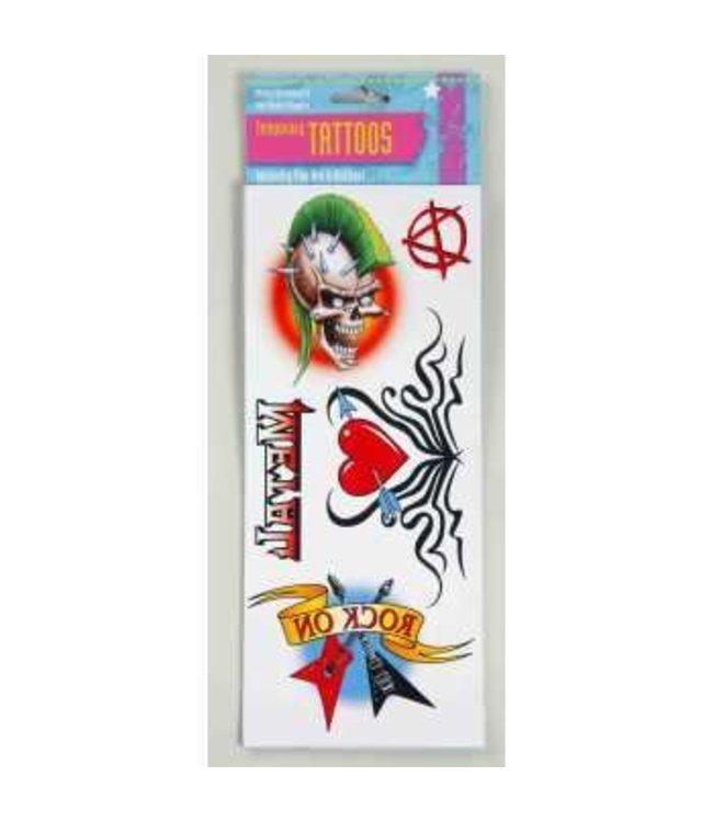 Forum Novelties 80s Tattoos 6 in x 9 in