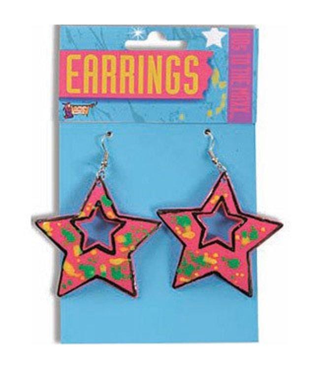 Forum Novelties 80's Star Earings (C4)