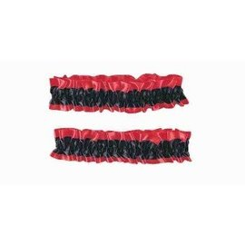 Forum Novelties Garter / Armband - Pair Red And Black (C14)