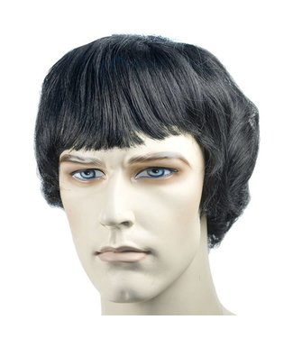Morris Costumes and Lacey Fashions Bargain Beatles Style Wig - Black