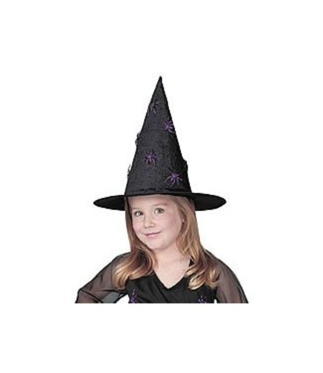 Glitter Spider Witch Hat - Child