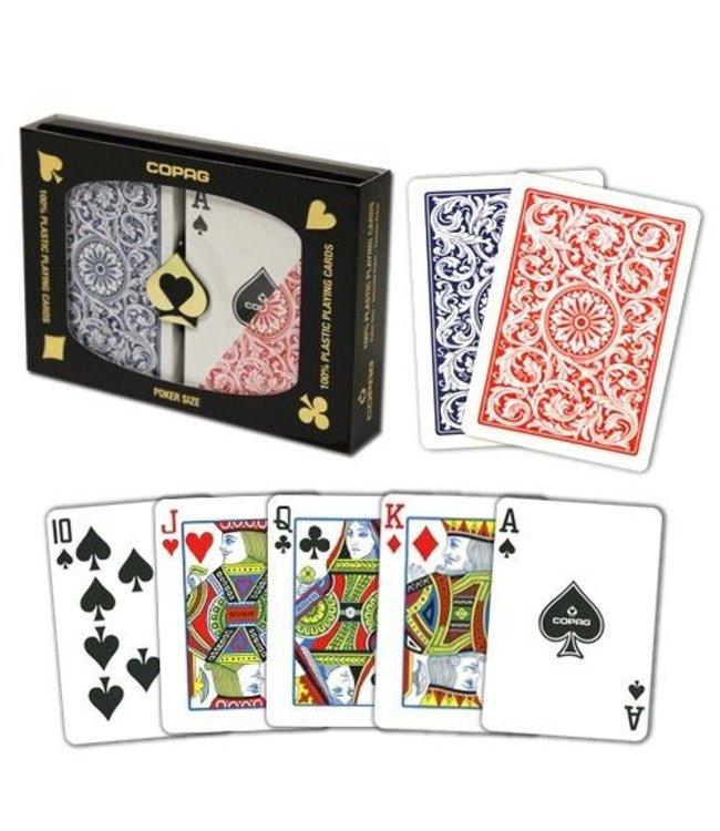 Copag Copag 1546 Poker Size Regular Index - Blue and Red Setup (M5)