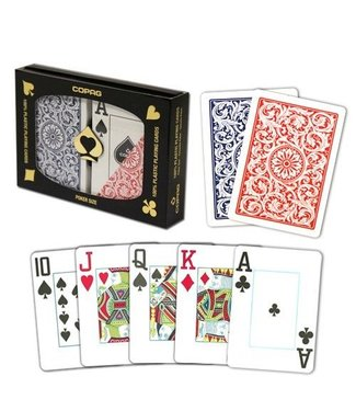 Copag Copag 1546 Red And Blue Poker Size Jumbo Index Double Deck (M5)