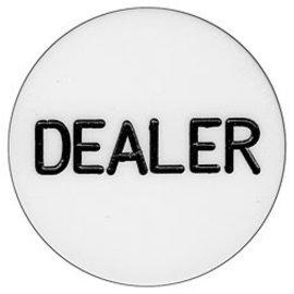 Dealer Button, White 2 inch x 1/4 inch (M5)