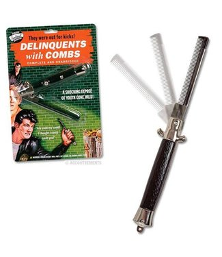 Switchblade Comb by Accoutrements