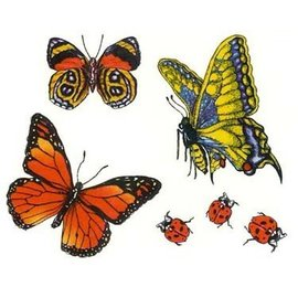 Butterflies and Lady Bugs Temporary Tattoos by Johnson And Mayer