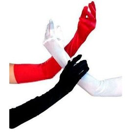 Beyco Gloves Red Shoulder Length Satin by Beyco