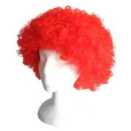 Morris Costumes and Lacey Fashions Afro Bargain, Red - wig