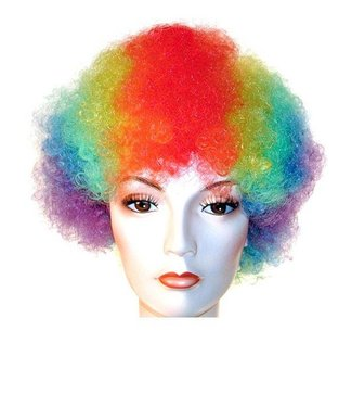 Morris Costumes and Lacey Fashions Afro Bargain Rainbow Wig