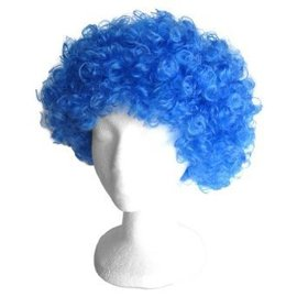 Morris Costumes and Lacey Fashions Afro Bargain, Blue - Wig