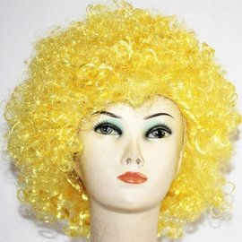 Morris Costumes and Lacey Fashions Afro Bargain, Yellow - Wig