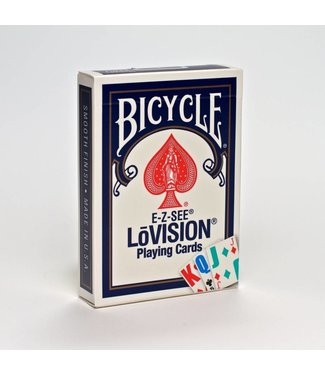 United States Playing Card Company Card - Bicycle E-Z See Lovision - Blue (M8)
