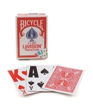 United States Playing Card Company Card - Bicycle E-Z See Lovision - Red (M8)