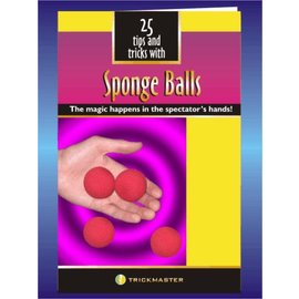 25 Tricks With Sponge Ball Booklet by Trickmaster Magic (M12)