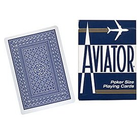 United States Playing Card Compnay USED Aviator Jumbo Index Poker Size - Cards (Blue)