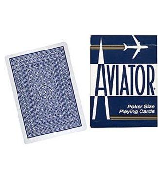 United States Playing Card Compnay USED Aviator Jumbo Index Poker Size - Cards (Blue)