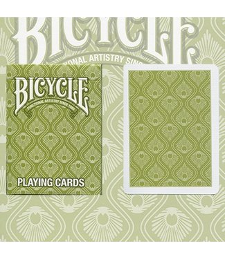 United States Playing Card Compnay Bicycle Peacock Deck (Green) by USPCC - Trick