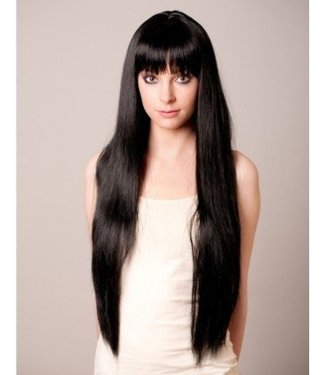 Long Flowing Black Wig by Loftus International