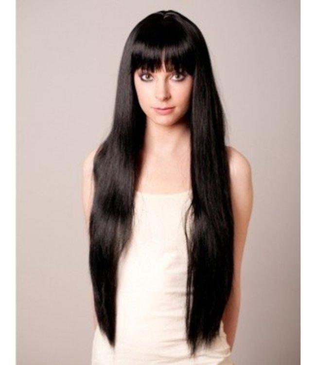 Long Flowing Black Wig By Loftus International