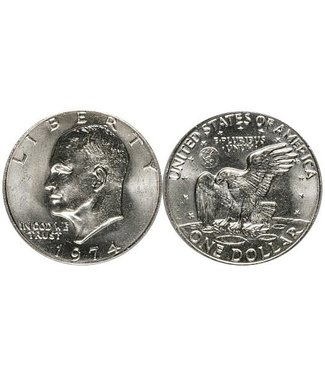 Silver Dollar, Eisenhower U.S. Coin, Real by U.S. Mint(M10)