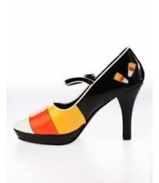 Contessa Shoes-55 (Candy Corn) 6 by Pleaser USA