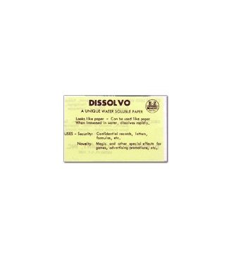 Dissolvo Paper - 4 Full sheets From Dissolvo