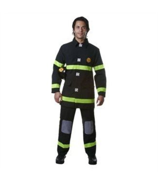 Dress Up America Adult Fire Fighter - Black Large