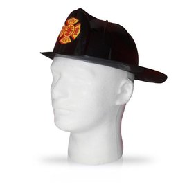 Dress Up America Black Fire Helmet