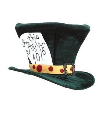 Elope The Mad Hatter Hat - Green by Elope