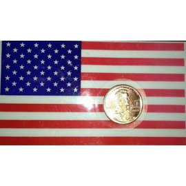 Flag Card w/Special Embossed Penny by Sasco